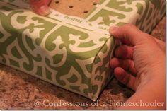 No Sew bench cushion cover using peg board