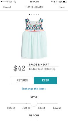 This top makes me happy.  Very cute!