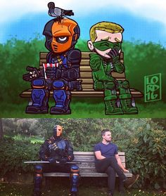 Benchwarmers stephen Amell Manu Bennett - Terminator Funny - Benchwarmers stephen Amell Manu Bennett The post Benchwarmers stephen Amell Manu Bennett appeared first on Gag Dad. Arrow Funny, Arrow Memes, Arrow Cast, Arrow Tv, Supergirl Dc, Supergirl And Flash, Flash And Arrow, The Flash, Green Arrow