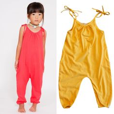 A bestseller at Darling Clementine, Go Gently's organic cotton jumpsuit (available in cherry, tangerine, blueberry, and slate) is comfy and stylish. Infant sizes come with snaps underneath, while toddler sizes have shoulder ties. Go Gently is based in Los Angeles and has an awesome mission: teach your children to love others, be kind to the earth, and go gently on their journey through life.
