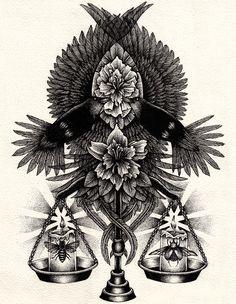 Annita Maslov – Dotwork Illustrations