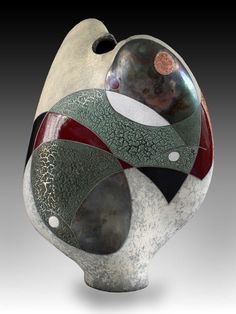Five contemporary American ceramic artists that use abstract concepts in their decorative styles that I feel are a skilful and intuitive representation of this deep and fascinating medium. Abstract Sculpture, Sculpture Art, Aboriginal Painting, Ceramic Artists, Public Art, Ceramic Pottery, Contemporary, Modern, Journey