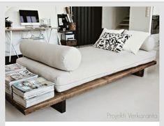 DIY lounge bench