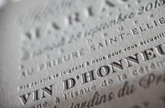 your beautiful days: Faire-part Letterpress Deep impression