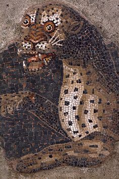 Mosaic Kitty Cat, Greece