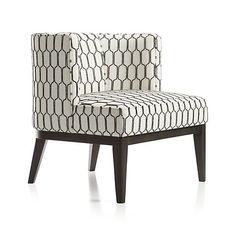 Grayson Chair - Velma: Mocha | Crate and Barrel