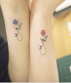 22 Awesome Sibling Tattoos for Brothers and Sisters small infinity with flowers tattoos for women - Tattoo Femeninos, Tattoo Mama, Shape Tattoo, Samoan Tattoo, Polynesian Tattoos, Gift Tattoo, 2016 Tattoo, Mom Daughter Tattoos, Brother Tattoos