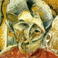 Dynamism of a Woman's Head by Italian artist Umberto Boccioni This painting was created in Milan and is now held at the Civico Museo d'Arte Contemporanea, also in Milan. Italian Painters, Italian Artist, Umberto Boccioni, Italian Futurism, Art Database, Office Art, Large Art, Sculpture, Art Reproductions