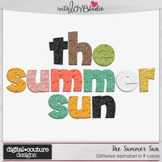 The Summer Sun - digital scrapbooking kit from Digital Couture Designs.These fun alphas will are perfect to make titles and word art for your summer layouts.
