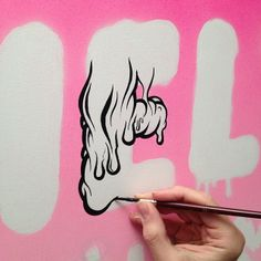 Working bigger and on canvas, but just improvising as usual… #buffmonster #wip #nofilter #nodaysoff