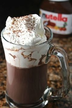 Nutella Hot Chocolate •	1 cup milk (I use skim) •	2½ Tbsp Nutella •	1 Tbsp Cocoa •	Tiny pinch of salt Homemade Whipped Cream •	1 cup Heavy Whipping Cream •	2 Tbsp Sugar •	½ tsp vanilla extract