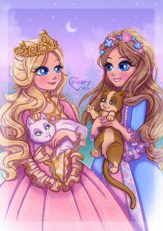 Barbie Cartoon, Cartoon Art, Disney Drawings, Cute Drawings, Princess Charm School, Cute Disney Characters, Barbie Drawing, Barbie Fairytopia, Princess And The Pauper