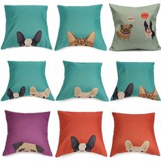 New Cotton Linen Animal Dog Pillow Case Waist Pilllow Cases Home Bed Room Supplies Bedding Sets Gift-in Pillow Case from Home & Garden on Aliexpress.com | Alibaba Group