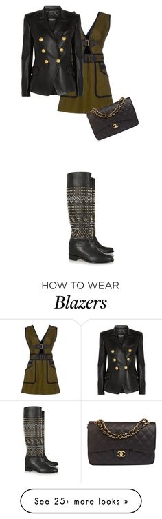 """""""Love life"""" by thestoryofnewyorklovin on Polyvore featuring 10 Crosby Derek Lam, Balmain, Christian Louboutin and Chanel"""