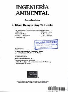 Ingeniería ambiental glynn henry y gary heinke (2da edición)