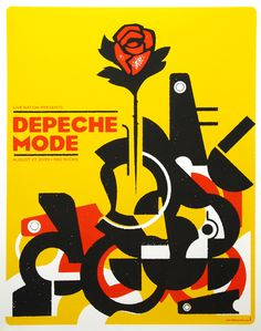 depeche mode music poster denver colorado gig poster band poster