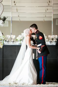 SMP Military #weddings Slideshow. Read more: http://www.stylemepretty.com/2014/05/26/salute-to-military-weddings/