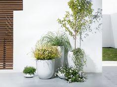 Doniczka biała - ogrodowa - balkonowa - ozdobna - 38x38x80 cm - ONEGA
