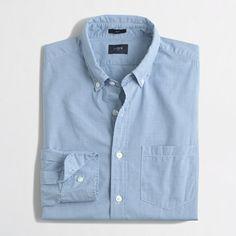 <ul><li>Cotton.</li><li>Slim fit.</li><li>Button-down collar.</li><li>Machine wash.</li><li>Import.</li></ul>