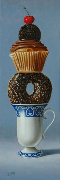 George A. Gonzalez (b.1966) — Balanced Diet  (251x750)