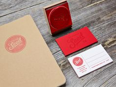 Business Card Inspiration #stamp #red #logo #branding #stationary #art #design