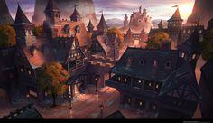 First Snow Fantasy city Fantasy town Fantasy concept art