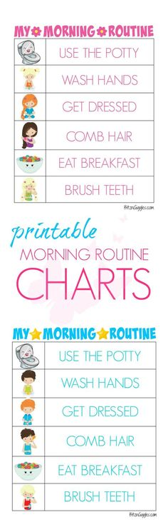 Kid Friendly Morning Chore Cards For Kids  Printable Chore Cards