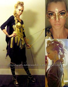 Coolest Homemade War Goddess Athena Halloween Costume... This website is the Pinterest of costumes