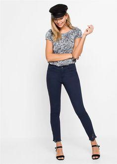 Pantaloni cu inserţii din dantelă alb O • 124.9 lei • bonprix Lei, Fasion, Skinny Jeans, Bikini, Costume, Pants, Women, Bikini Swimsuit, Trouser Pants