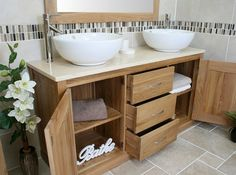 Double basin with marble top and oak vanity unit  Affordable option for fb? Paint?