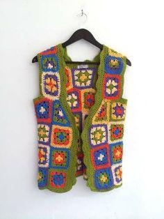 Chaleco De Crochet Las Totas Multicolor