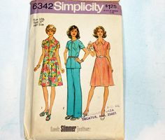 Vintage 1970s Sewing Pattern Simplicity 6342 by Old2NewMemories, $6.25