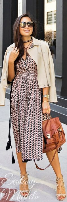 Chevron Dress // Fashion Look by With Love From Kat