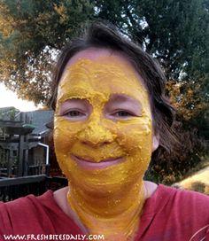 Turmeric Facial Mask for Skin Toning and Reducing Inflammation