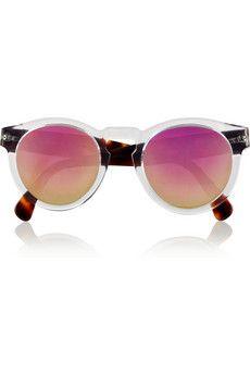 Illesteva Leonard round-frame acetate mirrored sunglasses | NET-A-PORTER