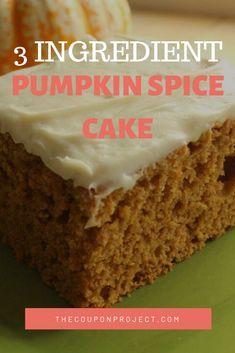 Pumpkin Recipes - Simple Healthy Pumpkin Spice Cake Recipe for Dessert . - Pumpkin Recipes – Simple Healthy Pumpkin Spice Cake Recipe for Dessert! Only 5 ing … – New Id - Spice Cake Mix Recipes, Pumpkin Cake Recipes, Pumpkin Dessert, Easy Cake Recipes, Easy Desserts, Dessert Recipes, Recipe Spice, Spice Cake With Pumpkin, Pumpkin Spice Cake Muffins