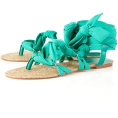 4b02c4c16bb265 Hesta Jade Tie Up Espadrille Sole Sandals ( 24) ❤ liked on Polyvore  featuring shoes