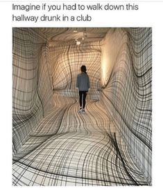 """Peter Kogler """"Next"""", ING Art Center, Brussel. Installation art that engages the audience and uses line to create implied space Street Art, Instalation Art, Wow Art, Art Plastique, Optical Illusions, Optical Illusion Art, Oeuvre D'art, Contemporary Art, Funny Pictures"""