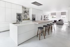 laminate kitchen in alpine white. Photography by Alex James