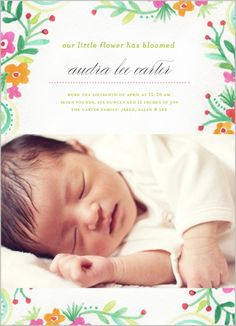 Garden Of Girl Birth Announcement http://www.shutterfly.com/cards-stationery/birth-announcements/baby-girl-birth-announcements