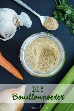 DIY bouillonpoeder, 0% chemicaliën en 100% groenten. Heerlijk!