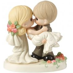 """""""On The Threshold Of A Lifetime Of Happiness"""" Bisque Porcelain Figurine"""