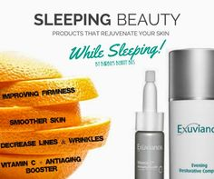 Barbie's Beauty Bits: Sleeping Beauty; Products That Rejuvenate Your Skin While Sleeping. #EXUVIANCE #skincare