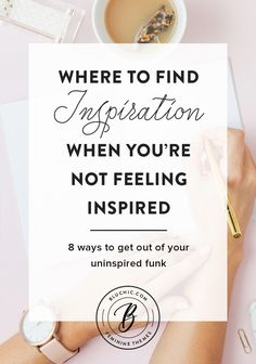 It can be difficult to get out of your uninspired funk. Check out these 8 ways to find inspiration when you aren't feeling inspired. Creative Business, Business Tips, Online Business, Business Goals, Business Marketing, Affiliate Marketing, Time Management Tips, Business Management, Entrepreneur Inspiration