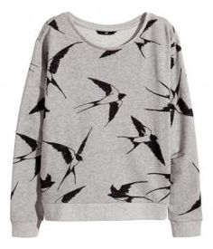 Try this alternative grey sweater with black drawn on birds!