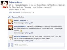 Haikyuu characters on Facebook