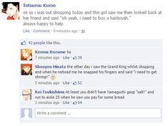 Haikyuu characters on Facebook