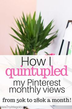 How I Grew My Pinterest From 51,810 to 275,466 Monthly Views In Just 23 Days! - My Little Gold Make Money Blogging, How To Make Money, Entrepreneur, My Pinterest, Blogging For Beginners, Pinterest Marketing, Social Media Tips, Blog Tips, How To Start A Blog