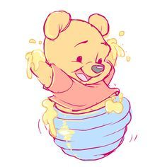 winnie the pooh bebé dibujo