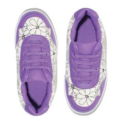 Kids Sneakers With A Personal Kick By Avon Youth Size 3 Purple /& White